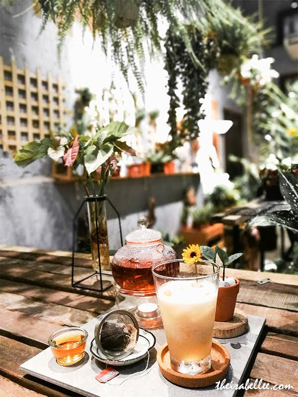 Rimba Lab plant cafe Penang tea set