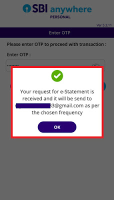 how to get monthly statement in sbi