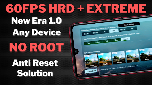 60FPS HDR+EXTREME Graphics in PUBG Mobile 1.0 on Any Android Device