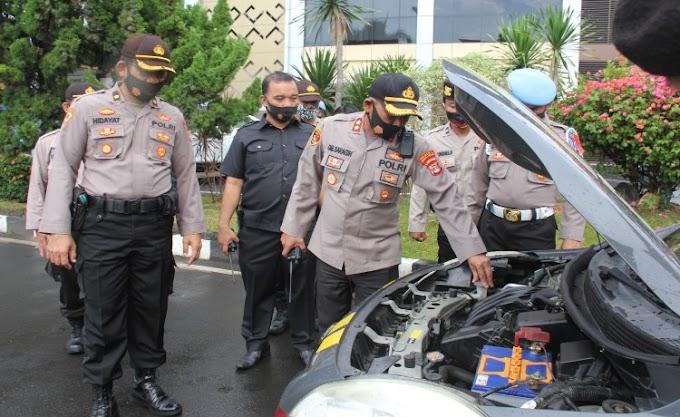 Kesiapan Pengamanan Pilkada Serentak, Polresta Balam Cek Kelengkapan Randis dan Alkom