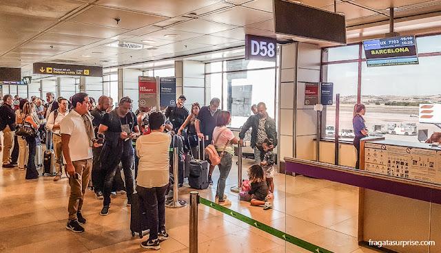 Conexão no Aeroporto de Barajas, Madri
