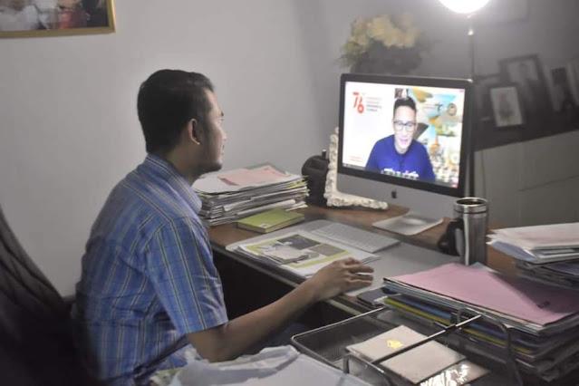 Di Webiner Nasional UMSi, Bupati ASA Bicara Inovasi Pelayanan Publik Bareng Sandiaga Uno