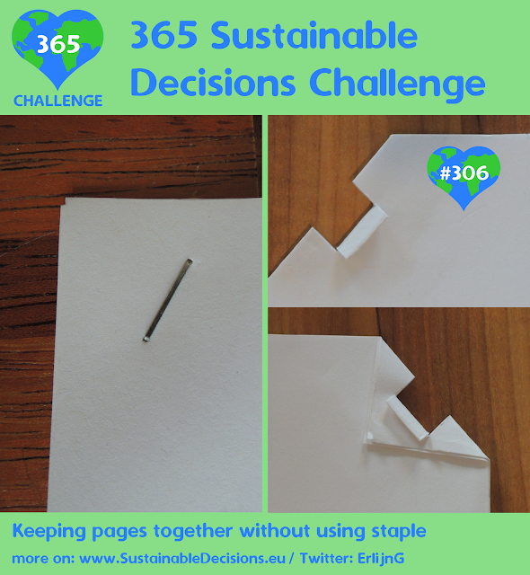 Keeping pages together without using staple, minimalism, relevant at work, sustainability, sustainable living, climate action