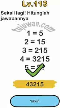 Jawaban Hitunglah Jawabannya Sekali Lagi Brain Out Pertanyaan Level 113