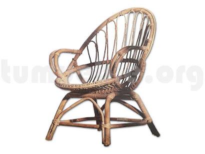 sillón caña de bambú j512
