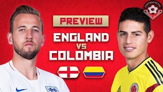 مشاهدة البث المباشر مباراة كولومبيا وانجلترا اليوم الثلاثاء في دور الـ 16 فى بطولة كأس العالم بث مباشر على BeIN SPORTS