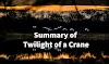 Summary of the Play Twilight of a Crane by Junji Kinoshita