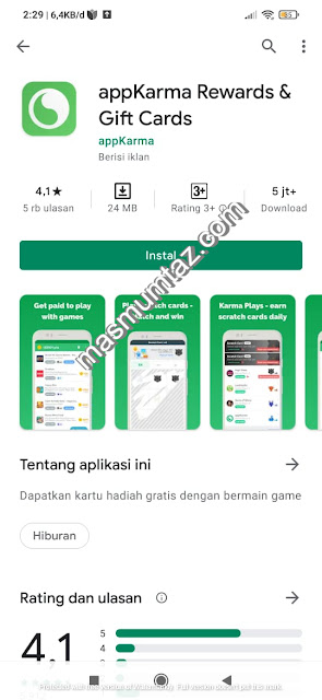 aplikasi penghasil dollar appkarma