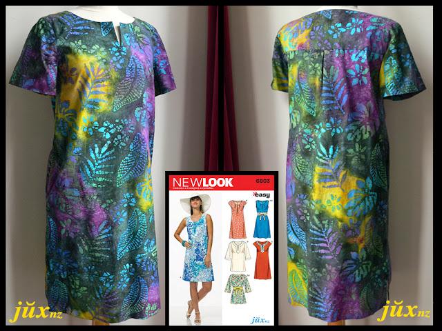 batik tunic dress - New Look 6803, view D