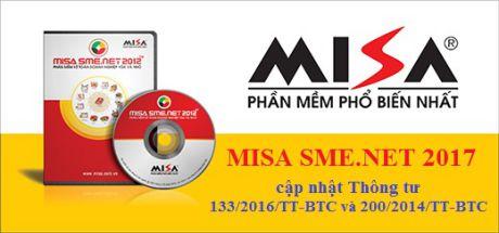 Tải Phần Mềm Kế Toán Misa 2017 SME.NET
