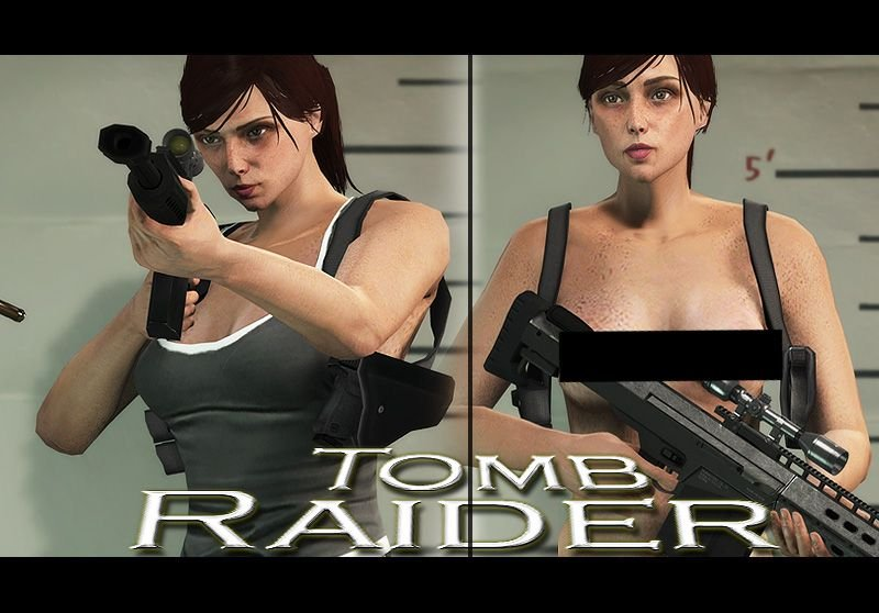 Lara Croft Tomb Raider 18+ - Requested - For Menyoo and Skin Control