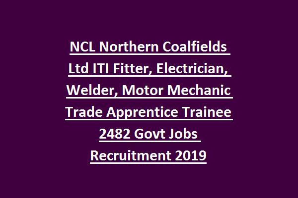 NCL Northern Coalfields Ltd ITI Fitter, Electrician, Welder
