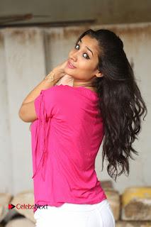 Actress Santhoshi Sharma Pictures in White Jeans at Ramasakkanodu Movie Opening  0025.JPG