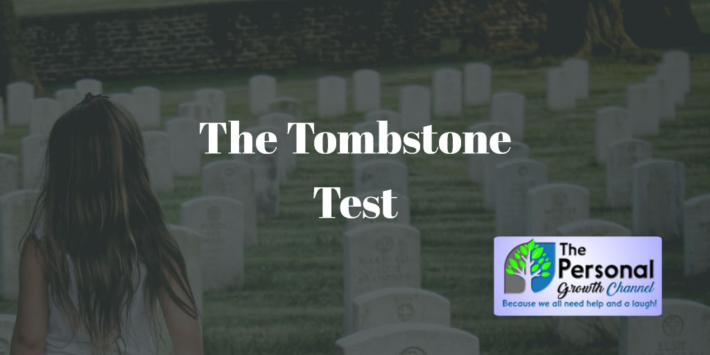 Girl looking at gravestones - the tombstone test