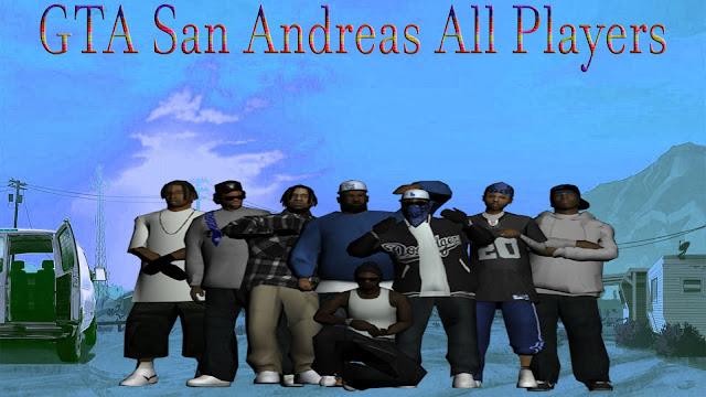 GTA San Andreas All Players Skins Mod Download