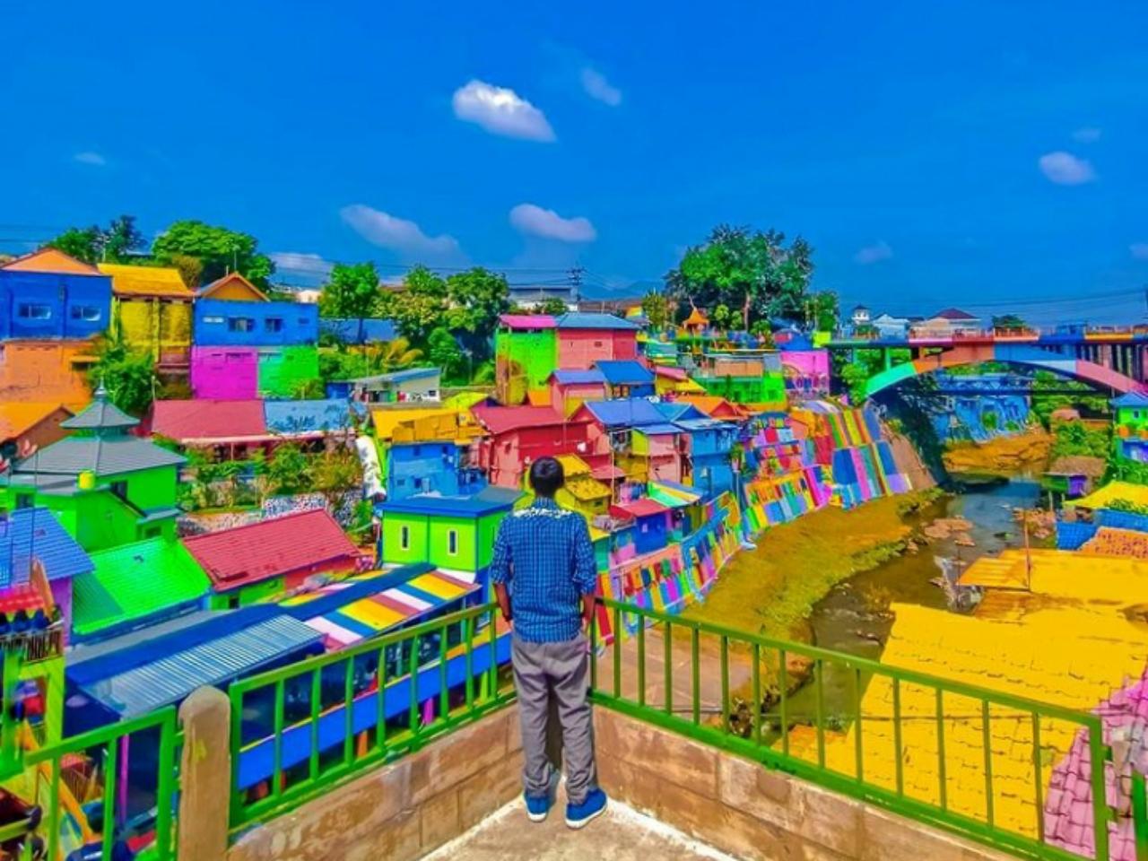 tempat wisata kampung jodipan malang di jawa timur