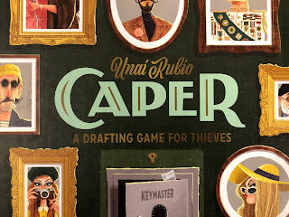 Caper, a card drafting game for thieves