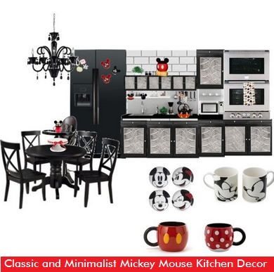 Classic And Minimalist Mickey Mouse Kitchen Decor Themed