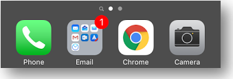 Now when returning to the home screen the dock should have hidden or look transparent like in the above and below photos