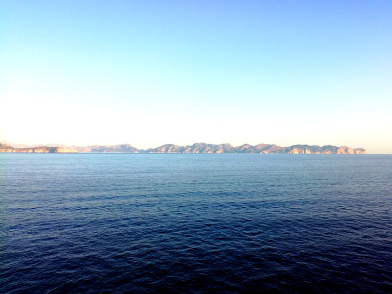 Mallorca vista dalla nave