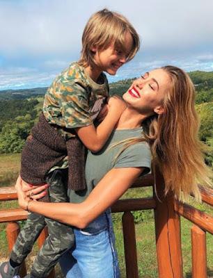 Jessica Sarfaty with her son
