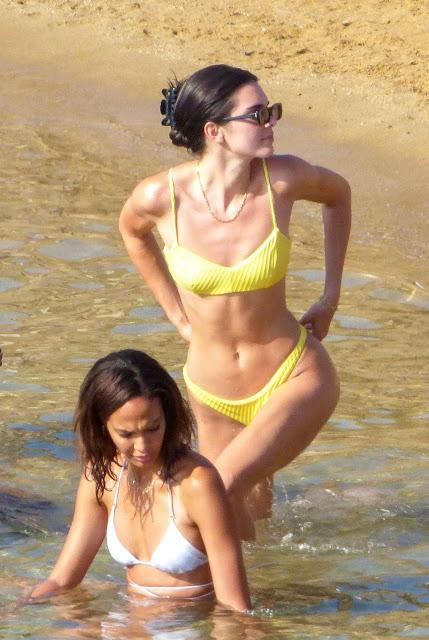 Kendall-Jenner-in-a-Bikini-on-a-Beach-in-Mykonos