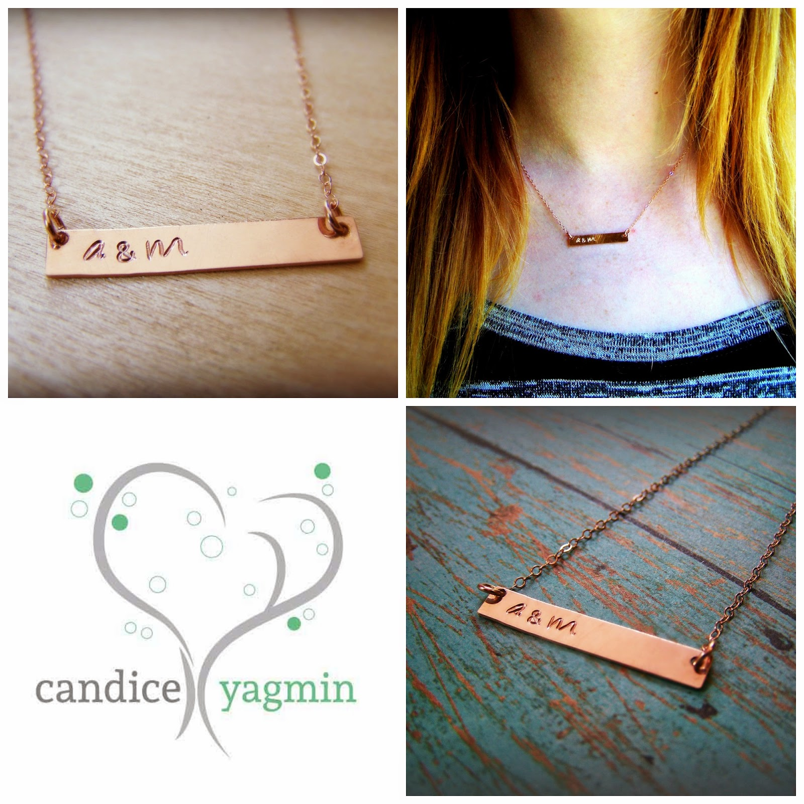 Hand-stamped Bar Necklace