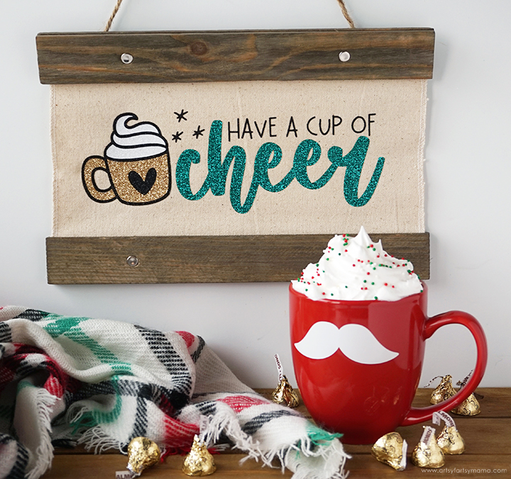Cup of Cheer Christmas Sign