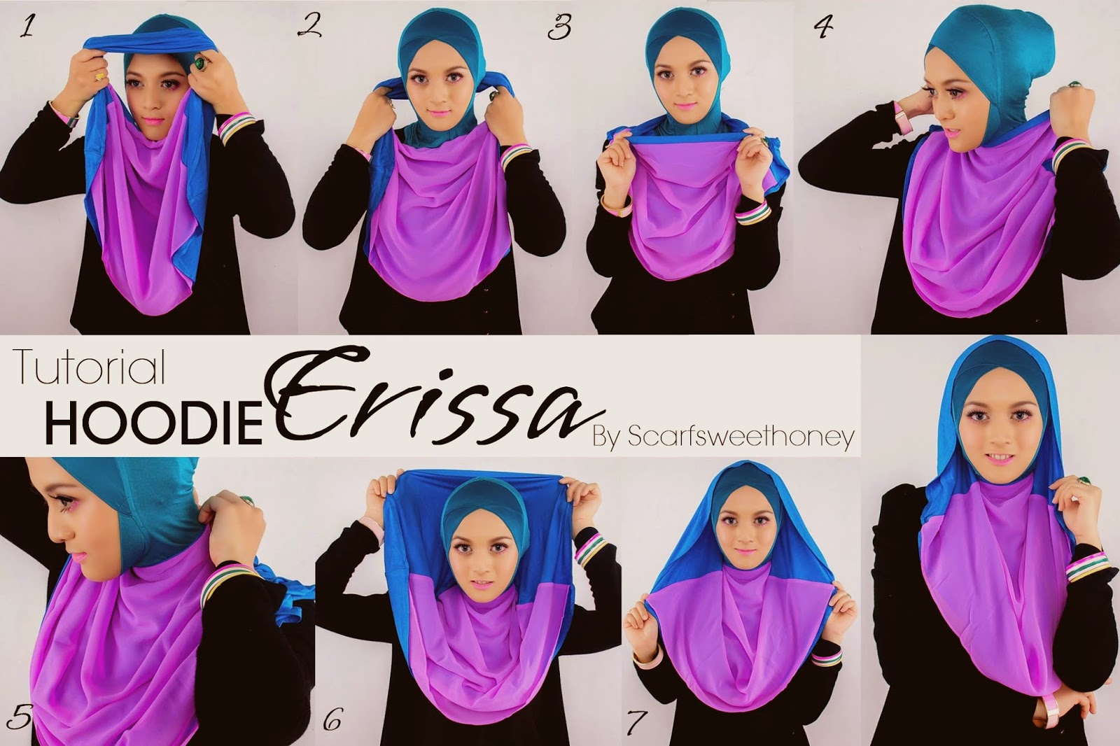 Cara Memakai Hijab Hoodie Instant Yang Simpel