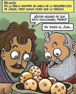 San Pedro resucita Jesús con bolas de dragón