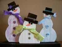 bead board snowmen