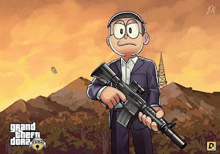 Beginilah Jadinya Kalau Semua Tokoh Anime Doraemon Masuk Dalam Dunia ala Grand Theft Auto!