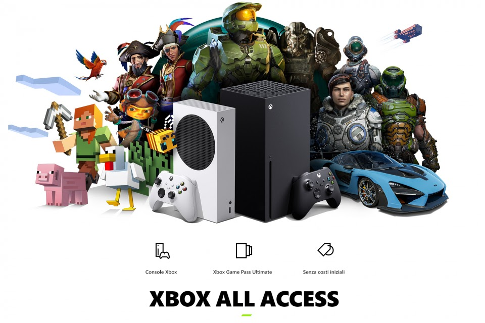 Xbox All Access, console + Game Pass + Cloud gaming, disponibile in Italia