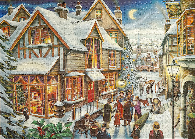 The Night Before Christmas Jigsaw Puzzle Waddingtons 1997 12 Carols to Find in the Picture