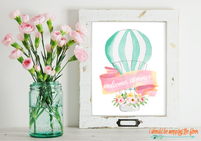 Cute Summer Watercolor Printable