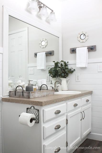 budget farmhouse bathroom makeover