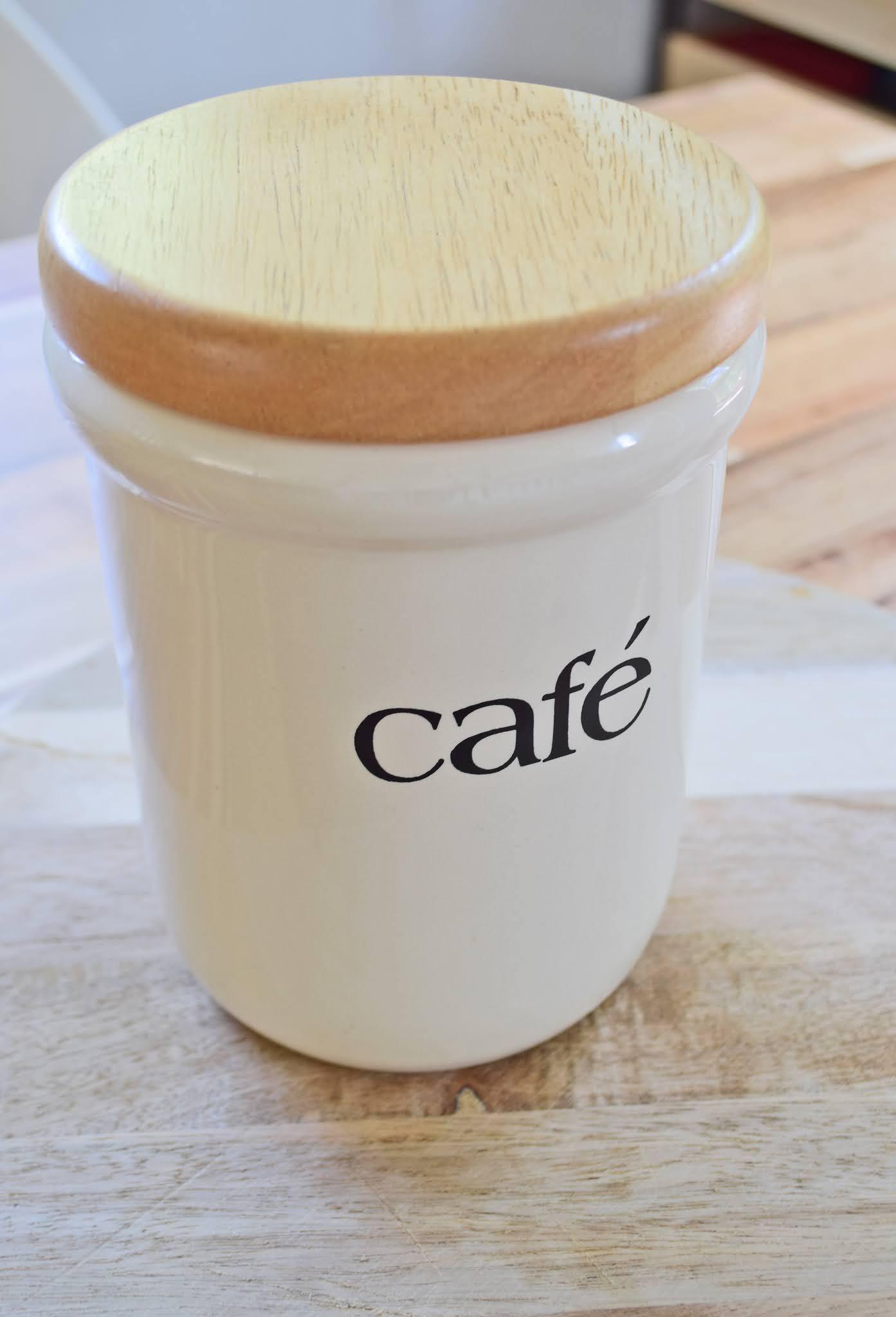 słoik na kawę ziarnistą