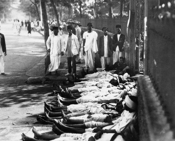 Indian workers on strike