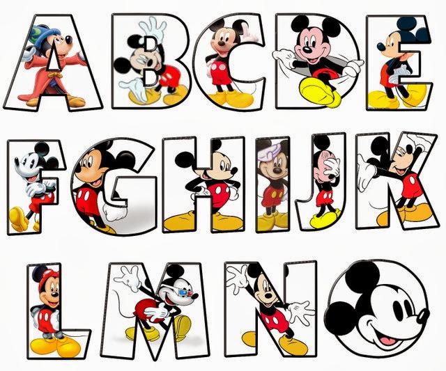 Alfabeto de Mickey. | Oh my Alfabetos!