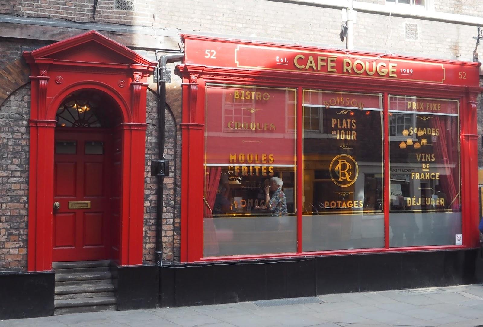 Review of Cafe Rouge spring set menu, York