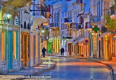 Tempat wisata di yunani santorini mykonos pulau paling indah di Yunani Syros Greece Yunani