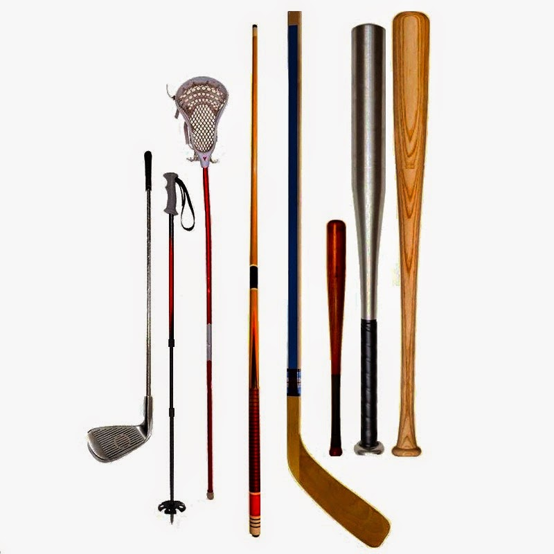 Various sporting goods items.