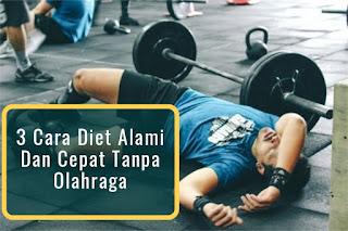 3 Cara Diet Alami Dan Cepat Tanpa Olahraga