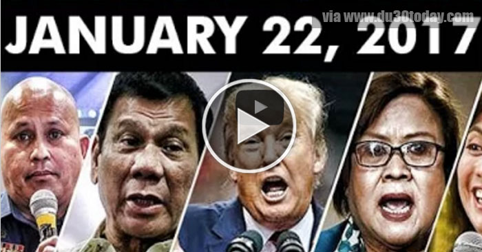 BREAKING NEWS TODAY! January 22, 2017