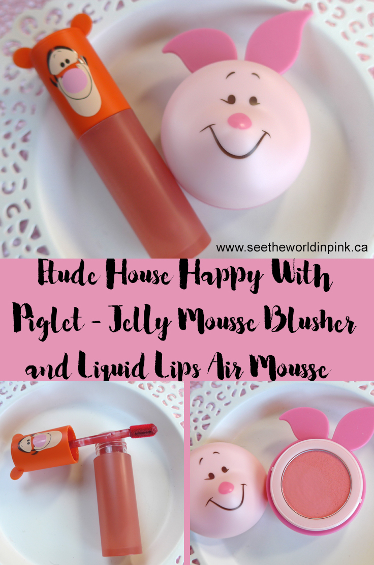 Etude House Happy With Piglet Jelly Mousse Blusher and Liquid Lips Air Mousse
