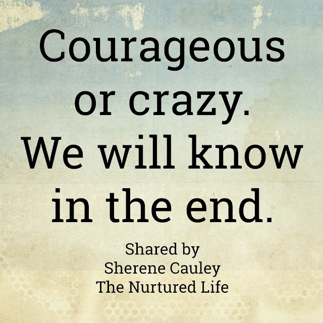 Courageous or Crazy quote