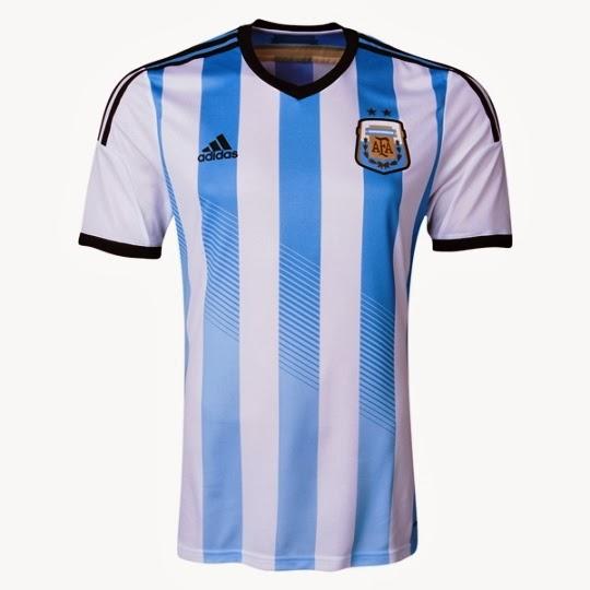 Esta es la camiseta Adidas oficial de Argentina (Argentina 2014 Authentic  Home Soccer Jersey). 482355707a55d