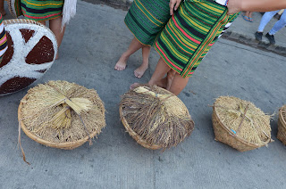 Three Rice Harvest Baskets Cultural Parade Participant