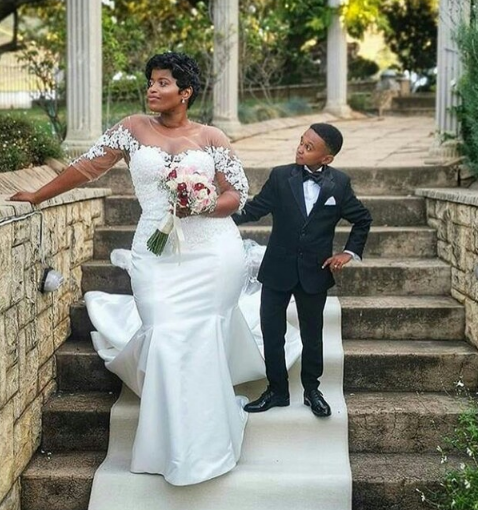 Big Woman Weds Popular Small-sized Actor (Photos)
