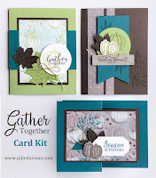 Stampin' Up! Gather Together Autumn Card Kit ~ 2019 Holiday Catalog ~ Stamp of the Month Club ~ www.juliedavison.com